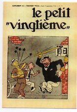 Carte Postale Tintin Le Petit Vingtième n°17 du 13 septembre 1934