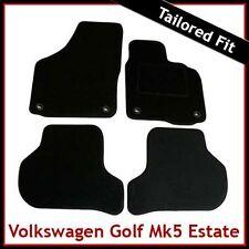 VW Golf Estate Mk5 2007-2009 Oval Eyelets Tailored Carpet Car Mats BLACK