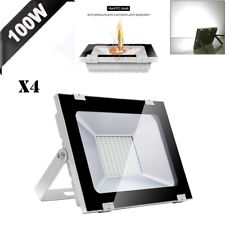 4X 100W LED Flood Light Cool White Outdoor Lighting Spotlight Garden Yard Lamp