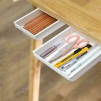 Portable Hidden Table Under Storage Box Desk Organizer Large-Capacity Pen H1I4