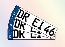 3 kurze KFZ Kennzeichen 46cm x 11cm Autoschilder Nummernschilder Schilder 460mm