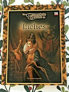 The Complete Guide To Liches, Dungeons & Dragons, Goodman Games, d20