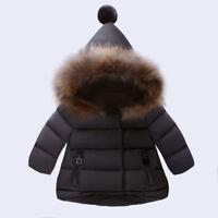 Babys Boy Girl Winter Warm Down Jacket Coat Hooded Hoodie Outerwear Snowsuits KP