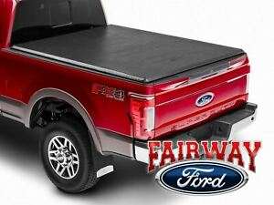 17 thru 22 Super Duty OEM Genuine Ford Soft Roll-Up Tonneau Cover 8' Long Bed
