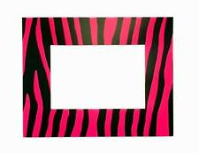 "Lot of 24 Pieces - Pink Zebra Print Card  5"" x 7"" Picture Frames with Easel"