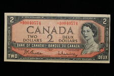 1954 Canada. ($2) Two Dollars. Replacement note. *B/B. Beattie-Rasminsky