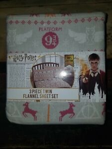 Harry Potter Twin Flannel Sheet Set - 3 Pieces NEW