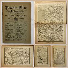 Taschenatlas aller Kriegsschauplätze im Westem Osten Balkan Italien 1.WK um 1915
