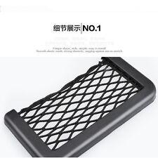 Universal Car organizer Seat Side Back Storage Net Bag Phone holder Pocket Black