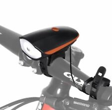 Bike Horn Light -Ultra Loud 140db 5Sound Mode Cycling Horn & 250 Lumens (Orange)