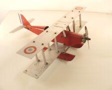 Meccano avion hydravion Biplan avec cocardes peintes rare 40 cm envergure