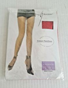 LEG AVENUE FISHNET PANTYHOSE NWT 1X-3X PLUS Size RED