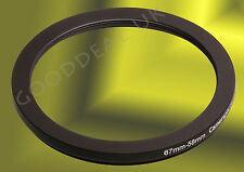 67mm to 58mm 67-58mm 67mm-58mm 67-58 Stepping Step Down Filter Ring Adapter UK