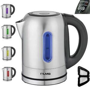 Premium Edelstahl Wasserkocher, LED Funktion, 1,7 Liter, 2200W, Temperaturwahl