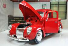 Modellini statici di auto, furgoni e camion pickup rosso per Ford
