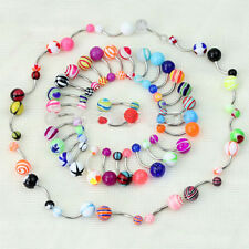 Fashion 50 Pcs Ball Belly Button Jewelry Ring Navel Rings Bar Body-Piercing Gift
