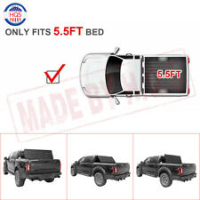 Lock Hard Solid Tri-Fold Tonneau Cover  For 2015-2018 Ford F150 5.5FT Truck Bed