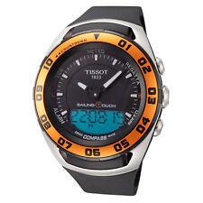 Tissot Men'S T0564202705102 парусный спорт Touch 45 мм, черный циферблат часы резиновый