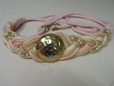 Vintage 80s Belt Retro Fashion Pink And Gold Large 40� Waist