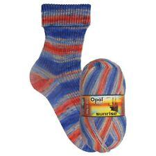 Opal Sunrise 4 Ply Sock Knitting Yarn 100g Choice of Shade 75 Wool 9440 Powerful Horizon