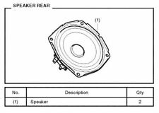 GENUINE OEM HONDA GL1800 GOLDWING 2018 REAR SPEAKER KIT + ATTACHMENT KIT