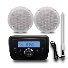 "Marine Digital Bluetooth Boat Audio Radio+4"" 2 Way Marine Speakers+FM/AM Antenna"