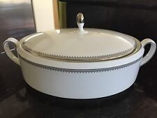 Wedgwood Vera Wang Grosgrain Oval Covered Vegetable Serving Bowl