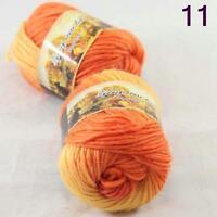 SALE 2ball Chunky Colorful Hand Knitting Scores Wool Yarn Yellow Orange