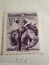 AUTRICHE AUSTRIA, 1958, timbre 886, COSTUMES, neuf*, OSTERREICH VF MH STAMP