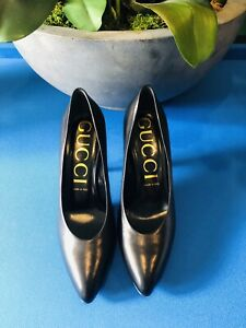Gucci Shoes Blanca Malaga Black Size 8.5 Uk Or 41.5 Europe Made In Italy Genuine