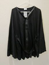 Dillards Belted Cape - Womens M/L Medium Large - Black - NWT