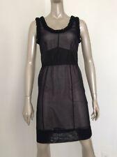 Louis Vuitton Size 36 Sheer Illusion Black Silk Sleeveless Dress Lbd