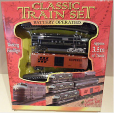 CHILDRENS KIDS TOY CLASSIC TRAIN SET WITH LIGHTS BUILD YOUR SHAPE 3.5M TRACK NEW