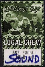Backstreet Boys RARE ORIGINAL 1995 Summer Tour Backstage Pass Sound Lou Pearlman
