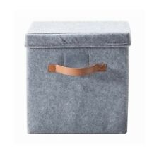 1 x Felt Storage Box with Lid & Handles - 30 x 30 x 30cm