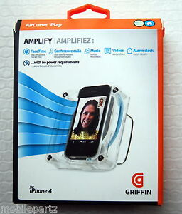 Griffin AirCurve Acoustic Amplifier for iPhone 4 / 4S GC10038 / New Retail Boxed
