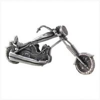 PEWTER MOTORCYCLE Classic Chopper Motor Cycle Office Decor Gift Bikers