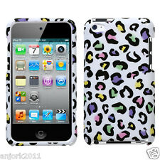 Apple iPod Touch 4 Snap-On Hard Case Cover Accessory White Leopard Skin