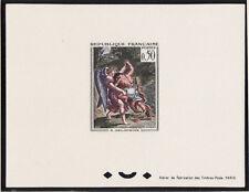 épreuve de luxe timbre France  tableau  Delacroix Jacob et l'ange 1963 num: 1376