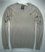 American Eagle Mens Gray V-neck Fine Knit Sweater XXL NWT