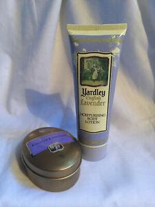 Vintage YARDLEY English Lavender Soap 100g Metal Tin & Moisturising Body Lotion