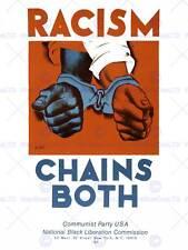 More details for civil rights racism communism black liberation new art print poster cc3985