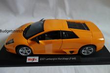MAISTO 1:18 Scale Diecast Model Car- 2007 Lamborghini Murcielago LP 640 - Orange