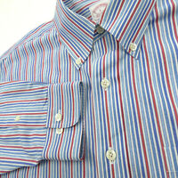 Brooks Brothers L Large Non Iron Long Sleeve Shirt Multicolor Striped Reg Fit