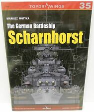 Kagero Publishing Top Drawings 35 - The German Battleship Scharnhorst   Book New