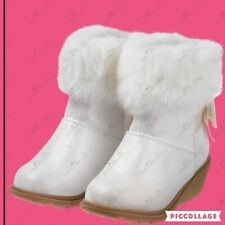 NWT Gymboree North Pole Party Wedge Furry Boots Size 12 Girls Pearl