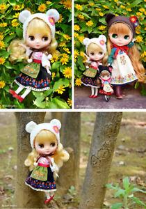 """Takara NEW 8"""" MIDDLE MIDDIE BLYTHE Doll Oski Tebya Lyublyu"""