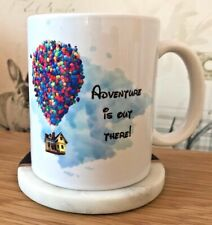 Disney's Up 'Adventure Is Out There' Watercolour Sky Balloon House Mug
