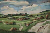 Georg Hans MÜLLER - REHM 1880 - 1952 - Hügelige Landschaft im Sommer