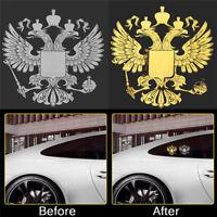 Coat of Russia Car Body Metal Sticker Russian Eagle Decal Decoration Stickers E&